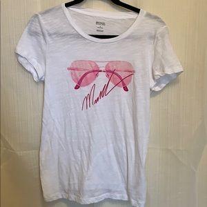 Michael Kors White Sunglasses Graphic T-shirt